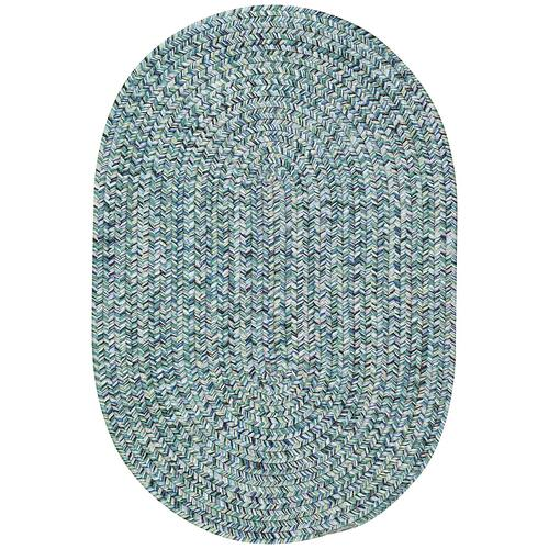 Sea Glass Ocean Blue Braided Rugs (Custom)