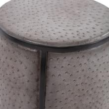 View Product - Faux Ostrich Skin Stool