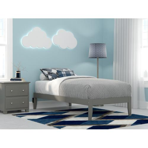 Colorado Twin Bed with USB Turbo Charger in Grey