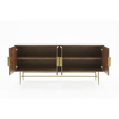 VIG Furniture - Modrest Selena Modern Acacia & Brass Buffet
