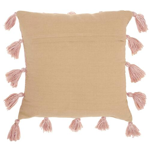 "Life Styles Dl005 Blush 18"" X 18"" Throw Pillow"