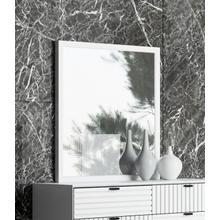 Nova Domus Valencia Contemporary White Mirror