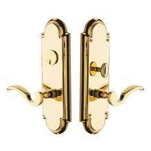 Lifetime Polished Brass Stanford Escutcheon Entrance Set