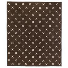 Dark Brown Cross Rug, 8x10'