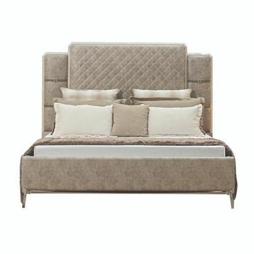 ACME Kordal California King Bed - 27194CK - Vintage Beige PU