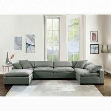 ACME Kerry Modular - Armless Chair - 53705 - Gray Linen