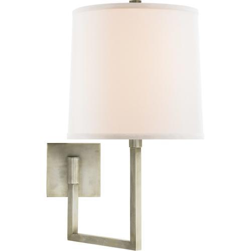 Barbara Barry Aspect 14 inch 100 watt Pewter Finish Swing-Arm Wall Light