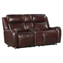 Wainwright Dual-Power Loveseat  Reddish Brown