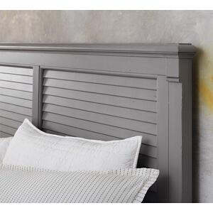 Shoreline King Louvered Storage Bed, Storage 2 Drawers
