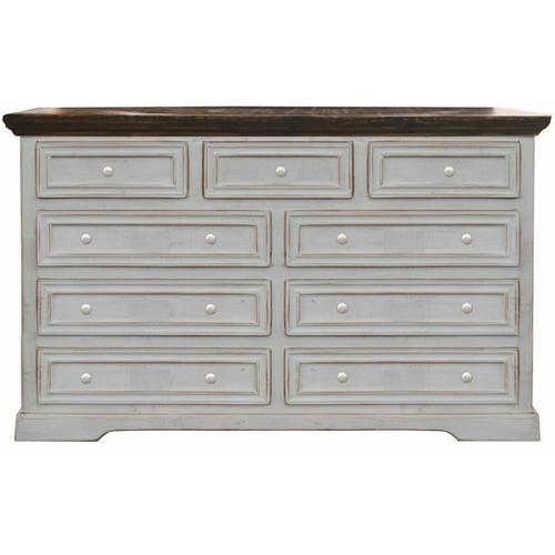 Million Dollar Rustic - Ww/15w Oasis 9 Drawer Dresser
