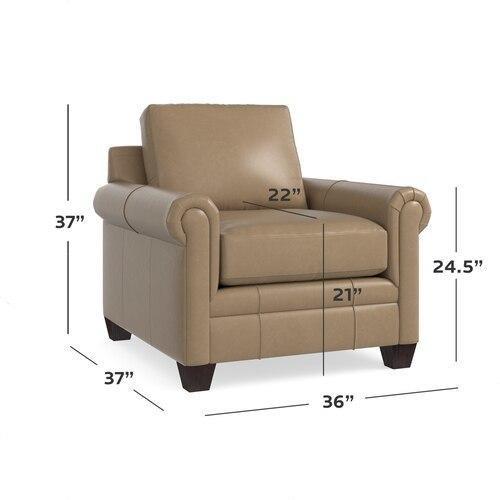 Carolina Leather Panel Arm Chair