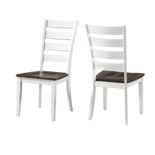 Intercon Furniture - Kona Ladder Chair  Gray and White