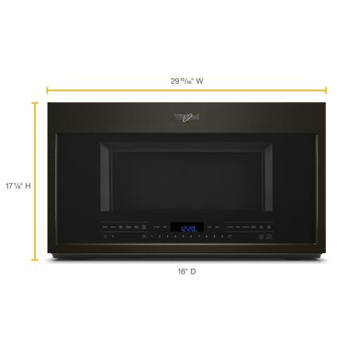 2.1 cu. ft. Over-the-Range Microwave with Steam cooking Black Stainless
