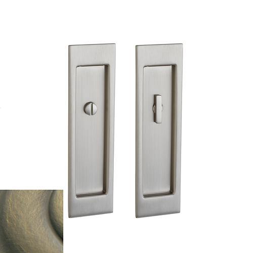 Baldwin - Satin Brass and Black PD005 Large Santa Monica Pocket Door
