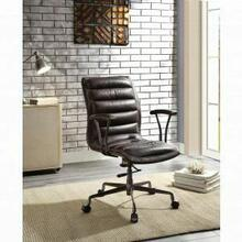 ACME Zooey Executive Office Chair - 92558 - Distress Chocolate Top Grain Leather