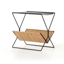 Monarch Magazine Rack-distressed Black