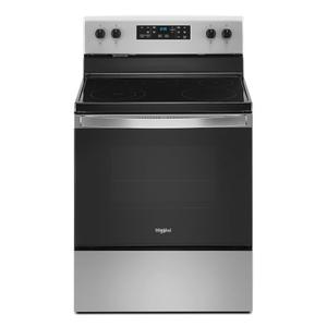 Whirlpool5.3 cu. ft. Whirlpool® electric range with Frozen Bake™ technology.
