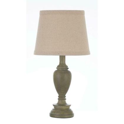 Transitional Light Faux Wood Table Lamp