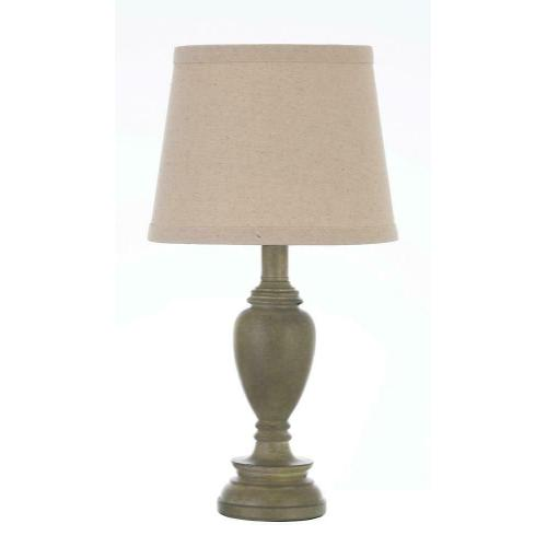 Gallery - Transitional Light Faux Wood Table Lamp