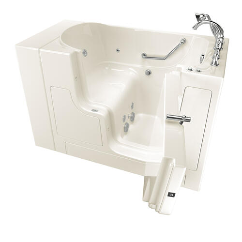 American Standard - Gelcoat Value Series 30x52-inch Outward Opening Door Walk-In Bathtub with Whirlpool Massage System  American Standard - Linen
