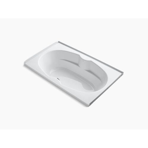 "White 72"" X 42"" Alcove Bath With Integral Flange"