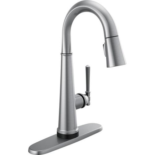 Lumicoat Arctic Stainless Single Handle Pull Down Bar/Prep Faucet with Touch 2 O Technology