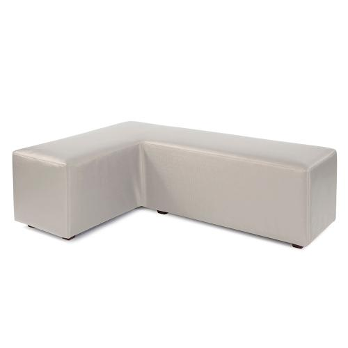 L Ottoman Luxe Mercury Cover (Cover Only)