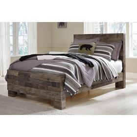 Derekson Full Panel Bed Multi Gray