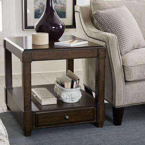 Halsey Rectangular Drawer End Table