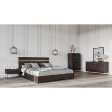 See Details - Nova Domus Benzon Italian Modern Dark Rovere Bedroom Set