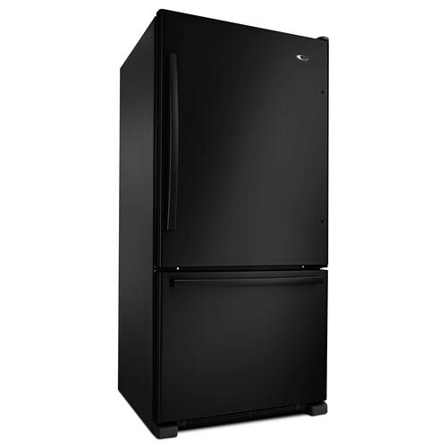33-inch Wide Bottom-Freezer Refrigerator with EasyFreezer Pull-Out Drawer - 22 cu. ft. Capacity Black