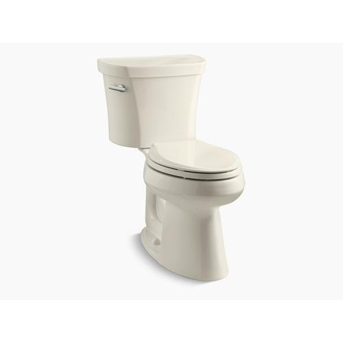 """Kohler - Almond Two-piece Elongated 1.28 Gpf Chair Height Toilet With 14"""" Rough-in"""