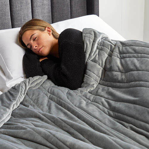 "Malouf Weighted Blanket, 48"" x 72"", 20 lbs, Ash"
