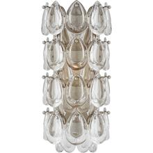 AERIN Liscia 1 Light 6 inch Burnished Silver Leaf Sconce Wall Light