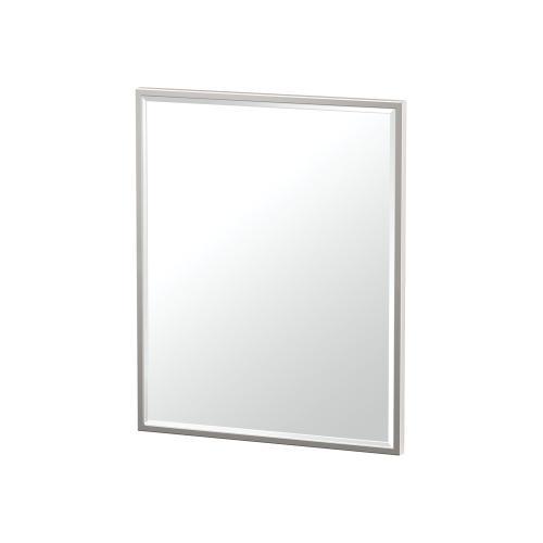 Flush Mount Framed Rectangle Mirror in Satin Nickel