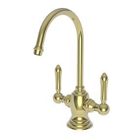 Uncoated Polished Brass - Living Hot & Cold Water Dispenser
