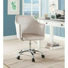 ACME Cosgair Office Chair - 92506 - Champagne Velvet & Chrome