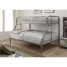 Morgan Silver Twin Full Bunk Bed
