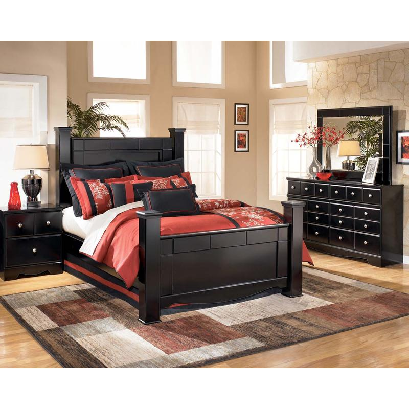 View Product - Shay - Almost Black 6 Piece Bedroom Set