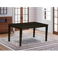 """Capri Rectangular dining table 36""""x60"""" with solid wood top In Cappuccino Finish"""