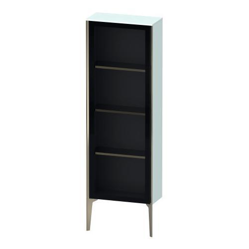 Duravit - Semi-tall Cabinet With Mirror Door Floorstanding, Light Blue Matte (decor)