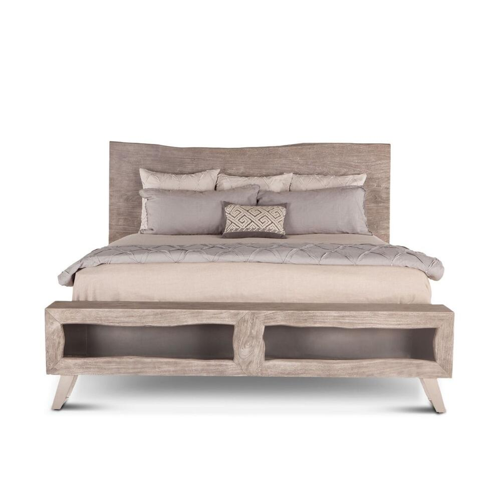 London Loft Bed Weathered Gray