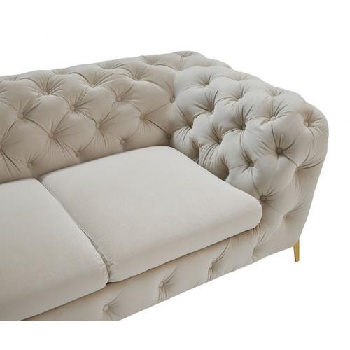 VIG Furniture - Divani Casa Quincey - Transitional Beige Velvet Loveseat