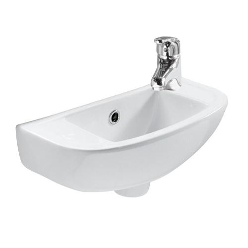 Compact Slim Line Basin - Single-Hole Right