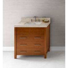 """See Details - Kali 31"""" Bathroom Vanity Base Cabinet in Cinnamon"""