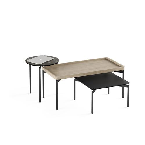 1730 Square Coffee Table BDI in Black
