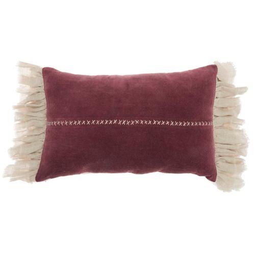 "Life Styles Ge903 Burgundy 14"" X 22"" Throw Pillow"