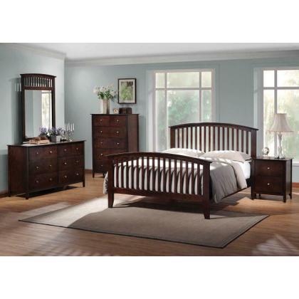 Tia Cappuccino Queen Four-piece Bedroom Set