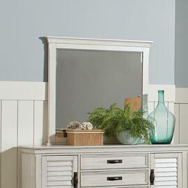 See Details - Coastal Antique White Mirror
