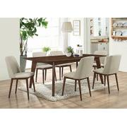 Barett Modern Grey and Chestnut Dining Chair Product Image